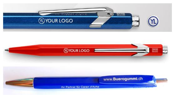 Caran d'Ache Kugelschreiber mit Logo bedruckt
