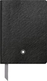 Notizbuch 8x11 liniert schwarz